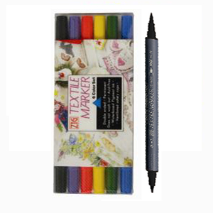 ZIG - Fabricolor Twin 6-pack Textilpennor